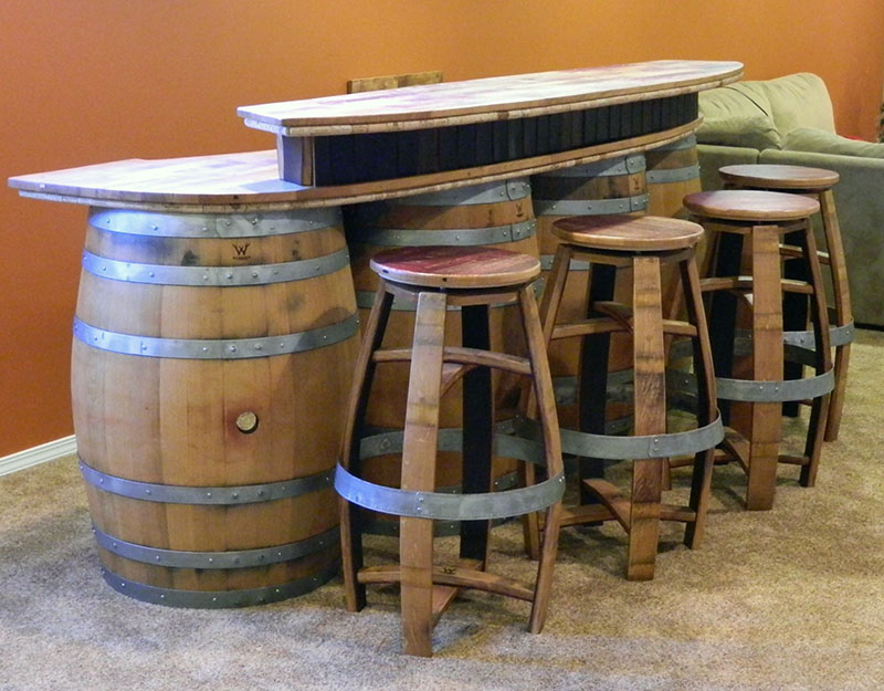 1000 images about Outdoor Party on Pinterest Outdoor  : Wine Barrel Bar1 from www.pinterest.com size 800 x 625 jpeg 152kB