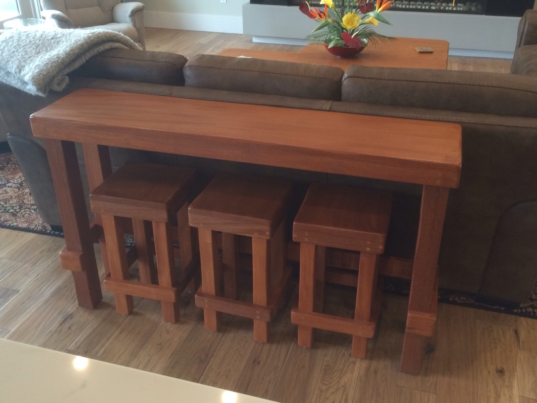Sofa Table With Stools Room Solutions By Ashley Carlyle